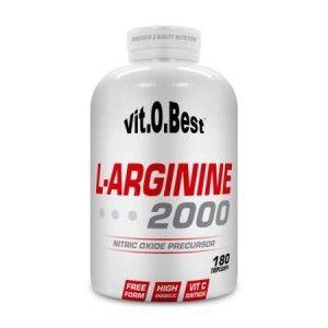 L-Arginine 2000 de Vit.O.Best contiene 2.000 mg de L-arginina HCl (arginina clorhidrato) por cada TripleCápsula, un aminoácido precursor metabólico del óxido nítrico, que es capaz de provocar la relajación de los vasos sanguíneos que te dará una mayor vascularización, proporcionándote congestiones más fuertes y de mayor duración, lo que producirá una mejora sorprendente en tu nivel muscular, tanto en volumen como en definición.