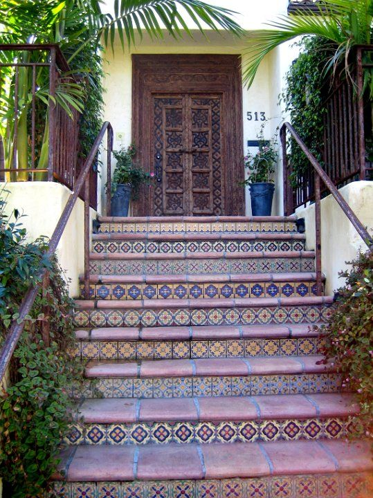 236 best decorating with talavera tiles images on for Mexican porch designs