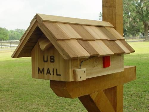 Handcrafted Cedar Wood Mailboxes,custom Mailboxes