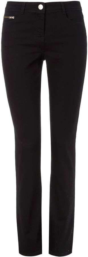 Petite Harper Black Straight Leg Jeans