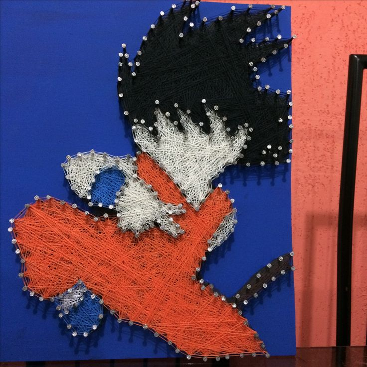Quadro Goku @lilopixartegeek String Art