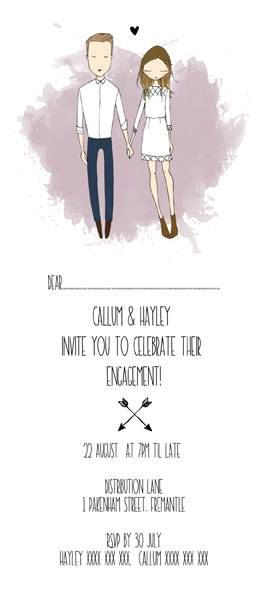 QUIRKY WEDDING INVITATIONS. personalised by Blankaillustration