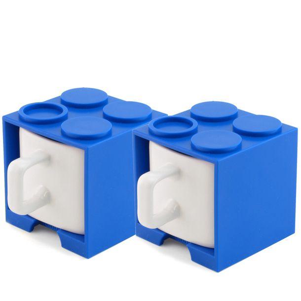 Cube Mug Mini Blue Set Of 2