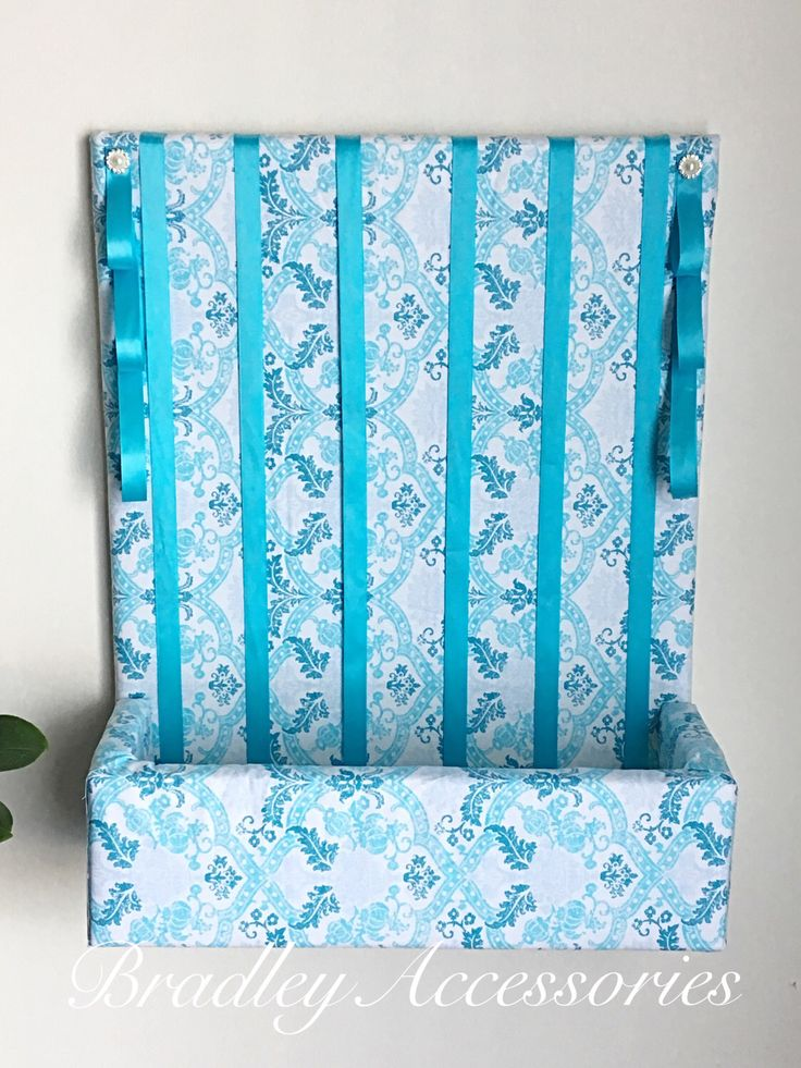 Blue Hair Bow Holder with Shelf, Hair Accessories Organizer, Hair Bow Holder, Storage, Girls Bedroom Organizer, Baby Shower, Nursery, 16x20 by BradleyAccessories on Etsy https://www.etsy.com/listing/509960285/blue-hair-bow-holder-with-shelf-hair