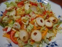 Nothing accompanies a meal better than a FRESH SALAD. Unfortunately most salads tend to be boring. NOT THIS ONE! Cabbage, carrot, croutons and lemon dressing...what more can one ask from a salad. To find the recipe click on the photo.