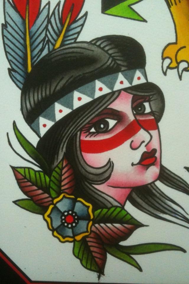 indian girl tattoo design inked pinterest. Black Bedroom Furniture Sets. Home Design Ideas