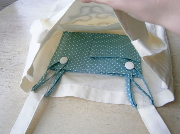 Think this is an ingenious insert for a tote bag:) DIY Tote Pocket Insert