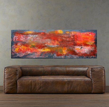 Abstract Painting, Canvas Wall art, Original artwork, Landscape Art, Abstract Painting, Modern Art by MravikArt on Etsy