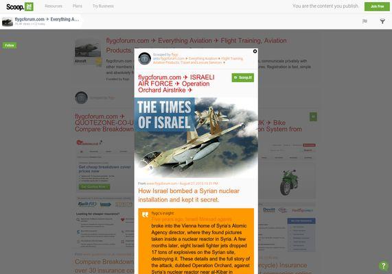flygcforum.com ✈ ISRAELI AIR FORCE ✈ How Israel bombed a Syrian nuclear installation and kept it secret ✈