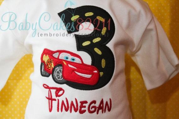 CARS  Birthday Shirt by BabyCakes82211 on Etsy, $23.00