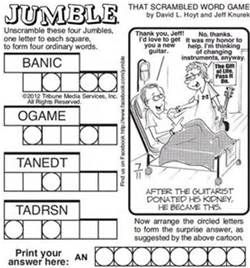 Impertinent image within printable jumble crossword puzzles