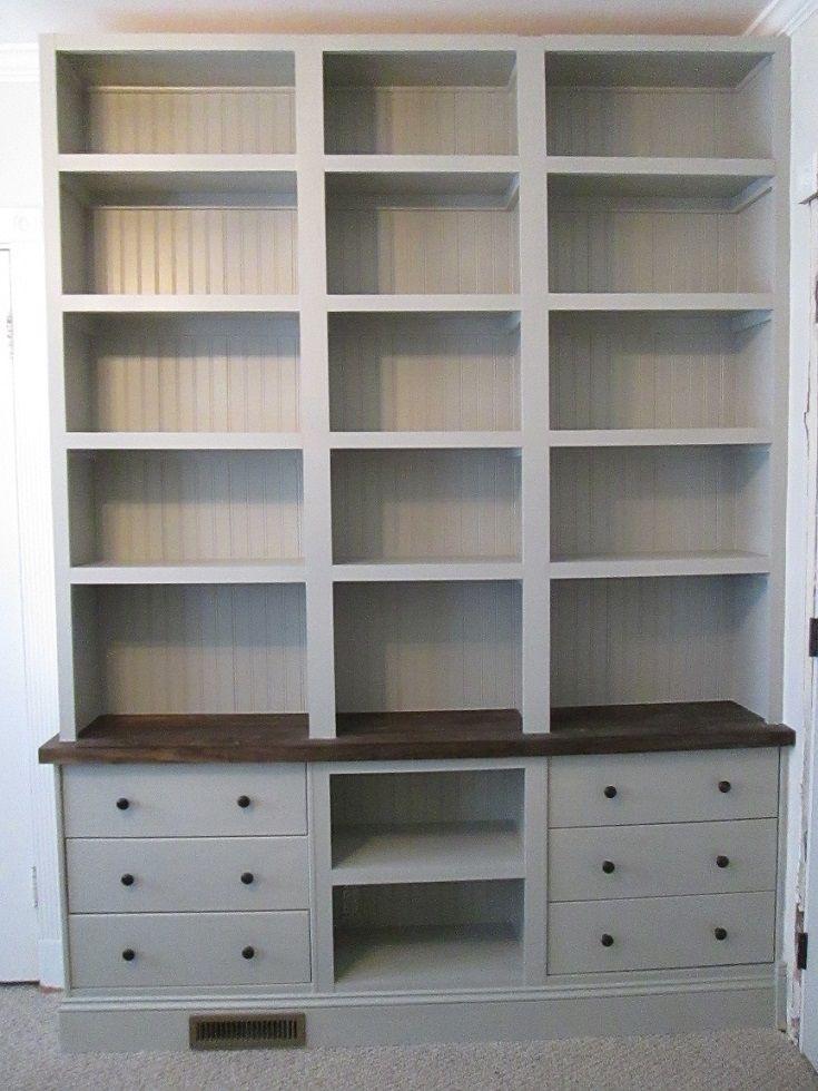 Une vraie bibliothèque intégrée sur une base RAST à 50€  #ikea #rast