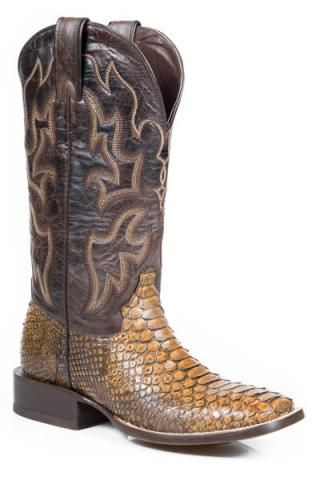 Mens Stetson Men's Outlaw Eagle Western Boot Clearance Sale Size 47