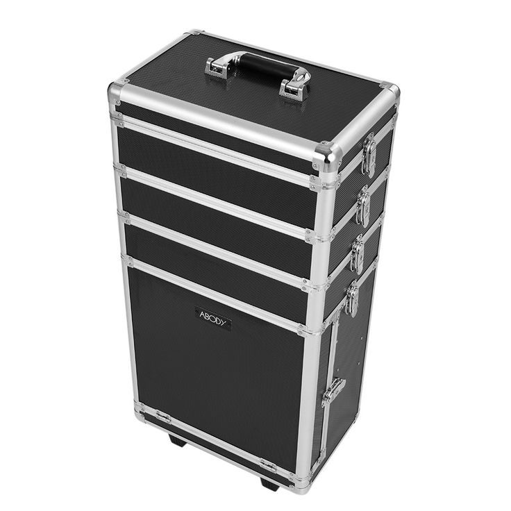 Only US$57.66, Abody Rolling Cosmetic Train Case Organizer Extendable Makeup - Tomtop.com