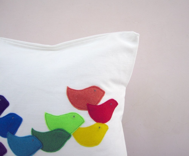 Colorful Bird Throw Pillows : 35 best C&K Nursery images on Pinterest Child room, Baby rooms and Recliners