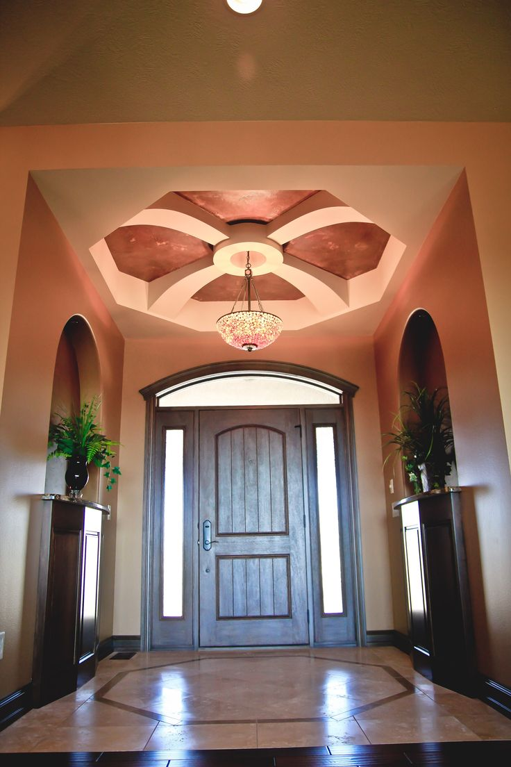 foyer entryway ceiling coffered ceilings pinterest