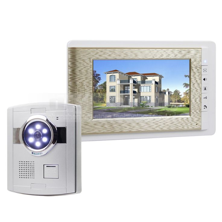 DIYSECUR Wired Video Door Phone Handsfree Intercom 7\