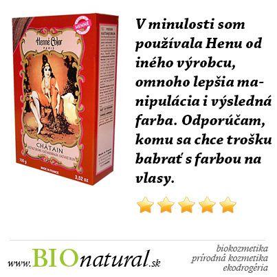 Prášková henna farba na vlasy gaštanová #HenneColor http://www.bionatural.sk/chatain-henna-powder-henne-color-100g-gastanova-p-956.html