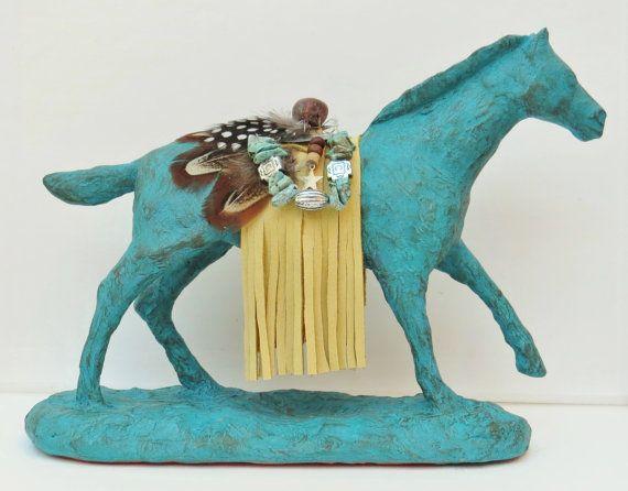 spirit horse pony southwestern sculpture pottery Native