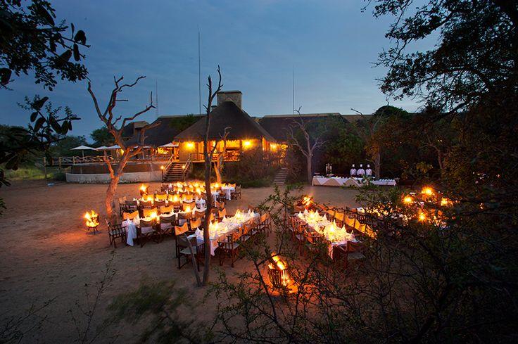 Kapama River Lodge - Um dos jantares tradicionais ao estilo africano