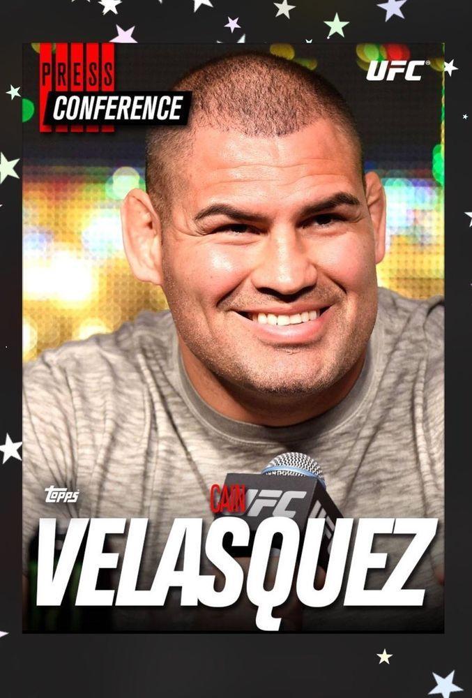 Topps UFC Knockout Digital Card Trader Press Conference Cain Velasquez Insert | eBay