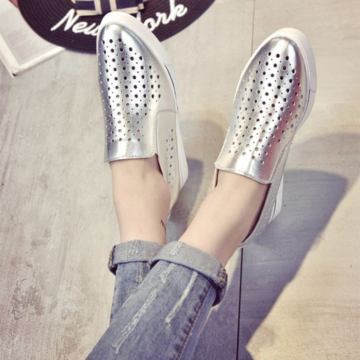 13.11$  Watch here - http://alignk.shopchina.info/go.php?t=32798381575 - COOTELILI 35-39 Spring Casual Flats Women Shoes Solid Hollow Slip-On Girls Loafers Lace-Up Shallow Inside Heighten Ladies Shoes  #bestbuy