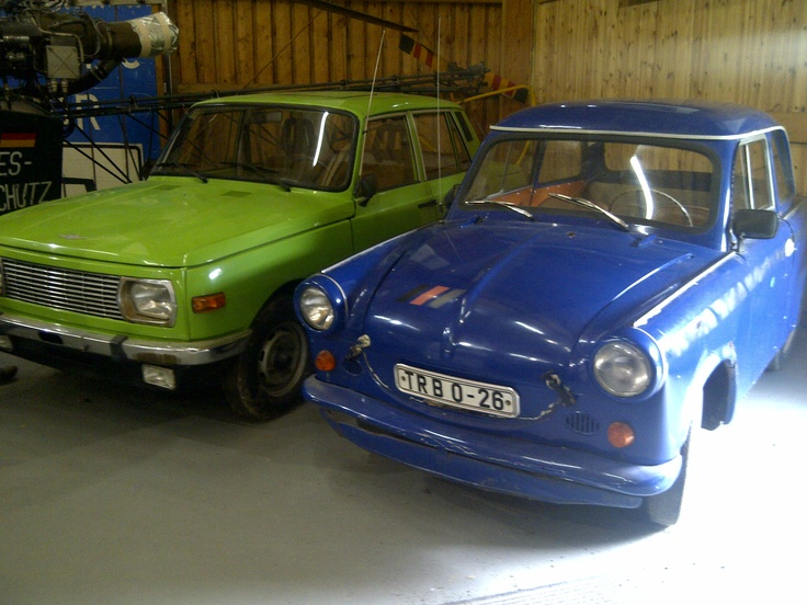 Trabant cars in the museum at Mödlareuth, Germany
