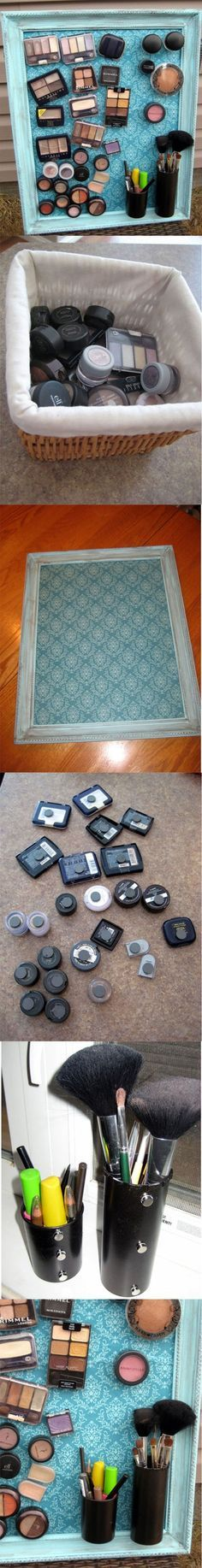 Make-up Magnet Board – DIY I think I'm gonna do this when I move back to Brigham this Summer