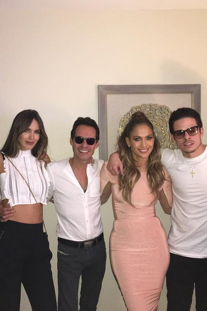 Pin for Later: Marc Anthony and Shannon de Lima Hang Out With J Lo and Casper Smart in Las Vegas