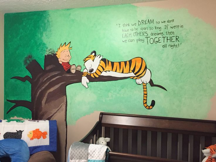 Calvin And Hobbes Mural Nursery Mural Calvin And