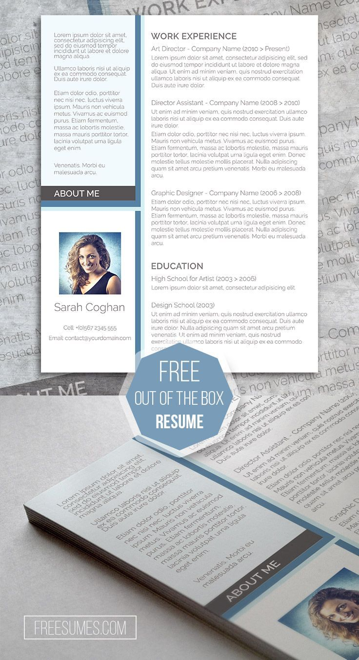 Free Modern Resume Design - A Splash Of Blue