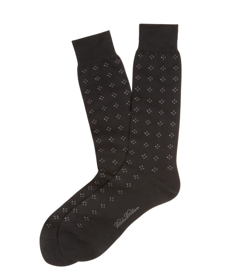 Double Neat Crew Socks - Brooks Brothers