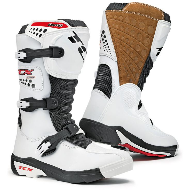 TCX Comp Kids Motocross Boots  Description: The TCX Comp Junior Motocross Boots have a range of       innovative features making it a unique boot:              Specifications include                      UPPER: Leather                    LINING: AIR TECH breathable                    PROTECTIONS: Shin plate, malleolous...  http://bikesdirect.org.uk/tcx-comp-kids-motocross-boots-22/