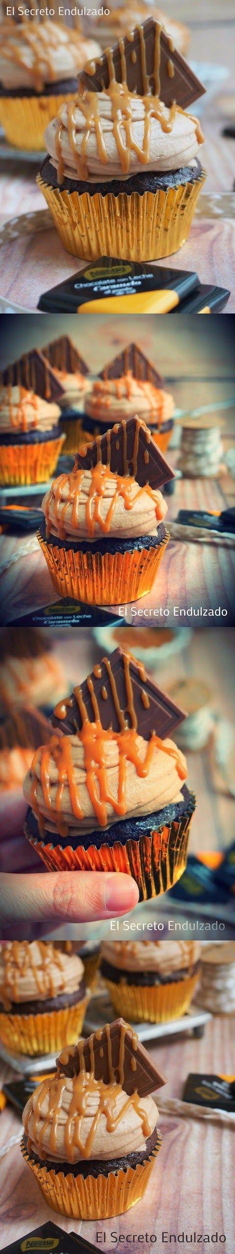 Manjar de Dioses: Cupcakes de ChocoCaramel / http://elsecretoendulzado.com