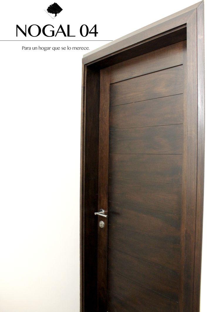 Nogal 04 puertas contempor neas en madera banack acabado color nogal fabricamos a tu estilo - Medidas de puertas de interior ...