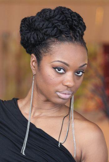 Large Twist Updo African American wedding hair | Vibrantbride.com