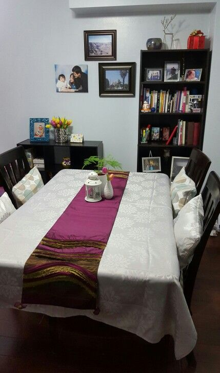 4th version of the dining table set up - Jan 2016