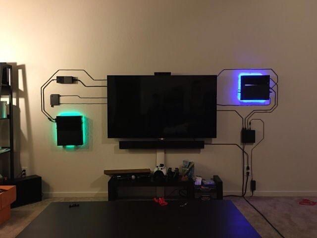 If you can't hide the wires, make them part of the decor