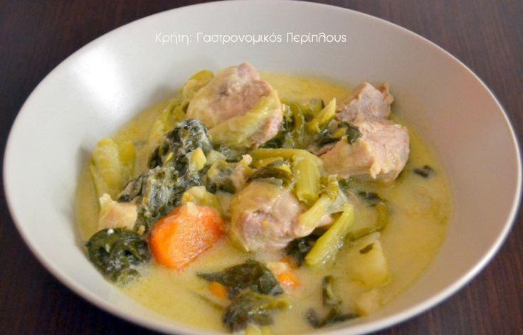 cretangastronomy.gr - Χοιρινό με λαχανικά εποχής φρικασέ