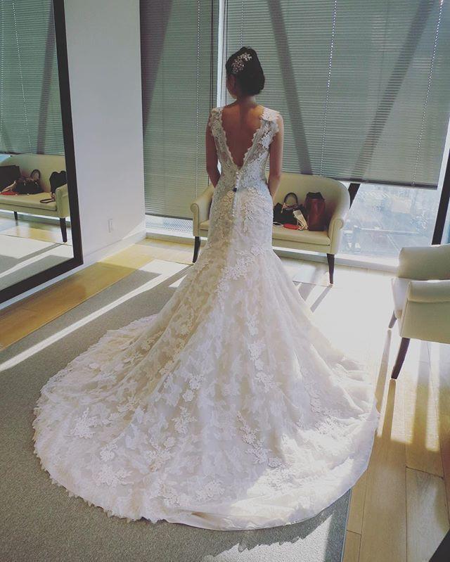 WEBSTA @ r.wedding.s - 👸🏻ドレス選び🌹 🌿ソフトマーメイド🌿マーメイドは、全く頭になかったけどソフトなら、私でも着れるかも‼️🤔💭後ろ姿が素敵過ぎる…💗💗💗 #pronovias #ドレス選び#👗#後ろ姿#ソフトマーメイド#プレ花嫁#👰#わくわく