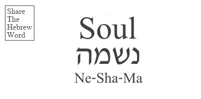 Soul in Hebrew is Neshama. It can also mean spirit. Share the Hebrew word to bring peace to the world.