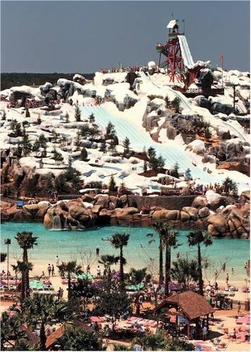 Blizzard Beach--We LOVE this water park.  It's got original theming and tons of rides.