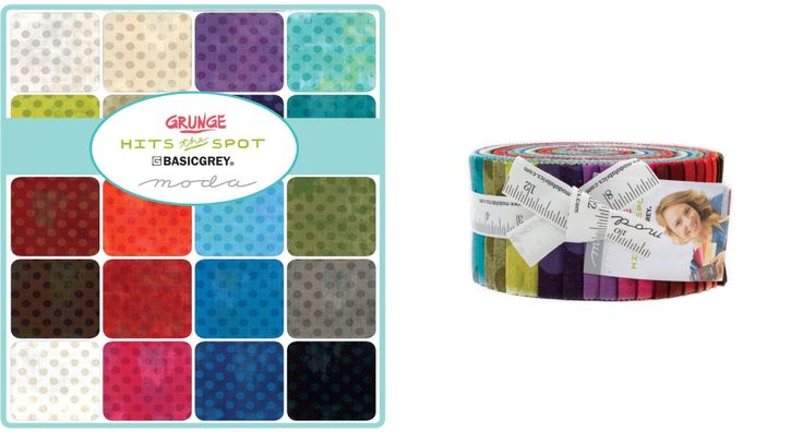 """Grunge Hits the Spot by Basic Grey for Moda Fabrics... Each Jelly Roll includes 40 - 2 1/2"""" strips of fabric..."""