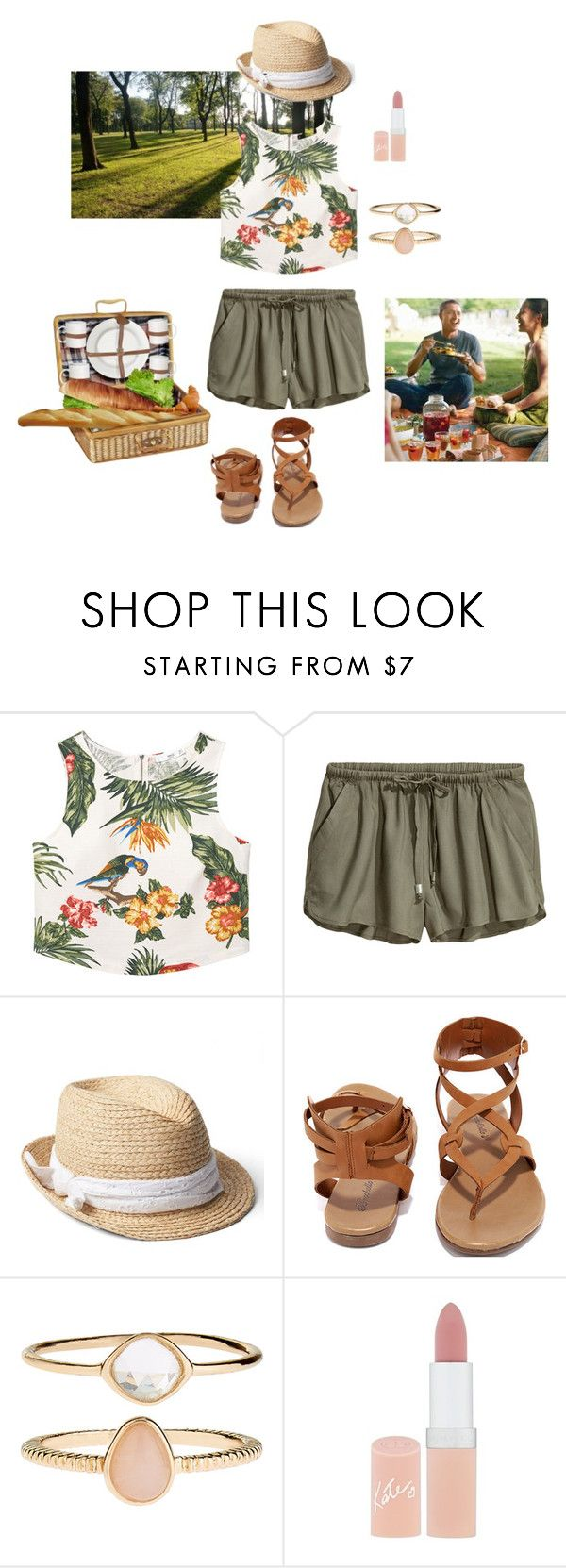 """""""Picnic outfit"""" by ulusia-1 ❤ liked on Polyvore featuring MANGO, Gap, Breckelle's, Accessorize and Rimmel"""