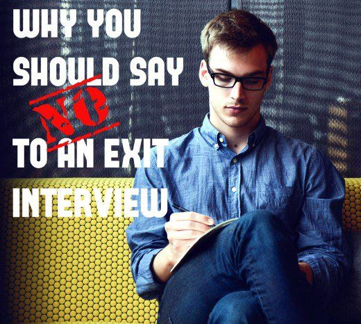 You may see an exit interview as an opportunity to vent about a micromanaging boss, lazy coworkers, or senseless corporate policies. That's a mistake. Decline & avoid the risks.What Is an Exit Interview?You're leaving your current employer, & your Human Resources (HR) department requests an exit interview on your way out of the door. Here's what an exit interview is, its real purpose, & why it's generally not a good idea to accept that invitation.Now that you have announced.....