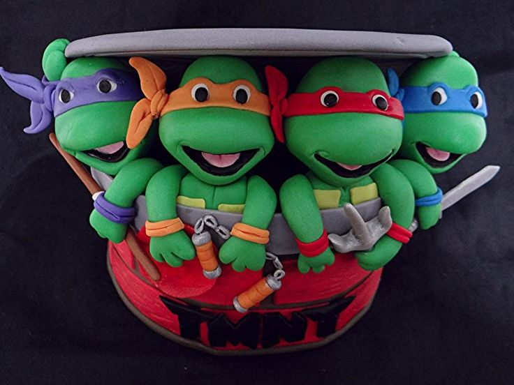 Teenage Mutant Ninja Turtle Cake Topper - Cake by BellaCakes & Confections