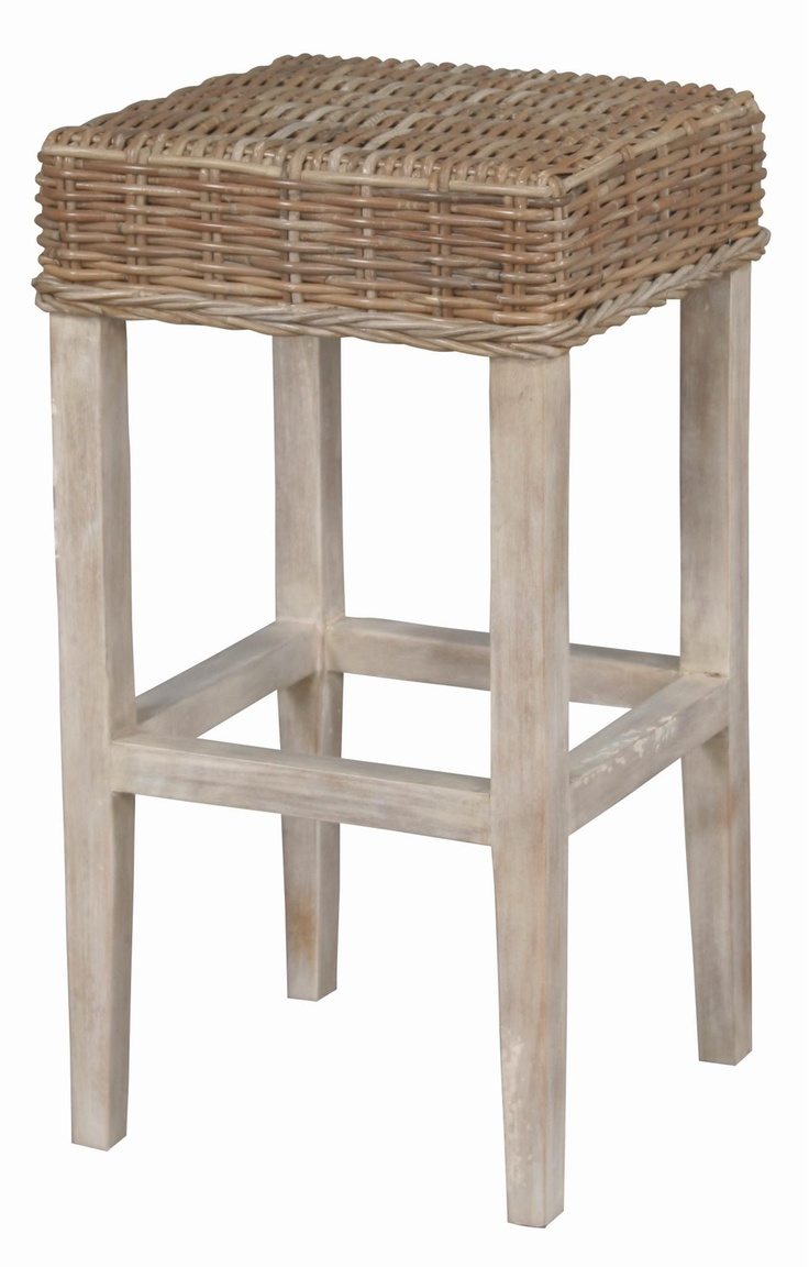 Backless Barstool In 2019 Unique Bar Stools Wicker Bar