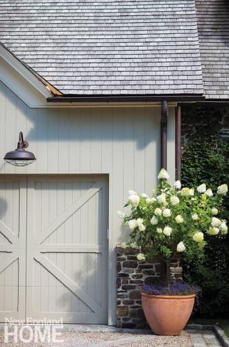 Exterior Design Details | Barn Doors ~ Light Fixture