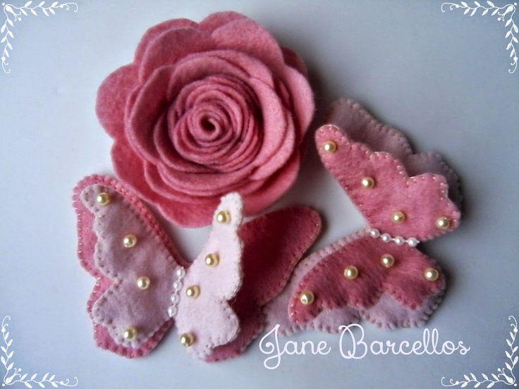 Mimos Feito a mão, by Jane Barcellos: borboletas sempre voltam...