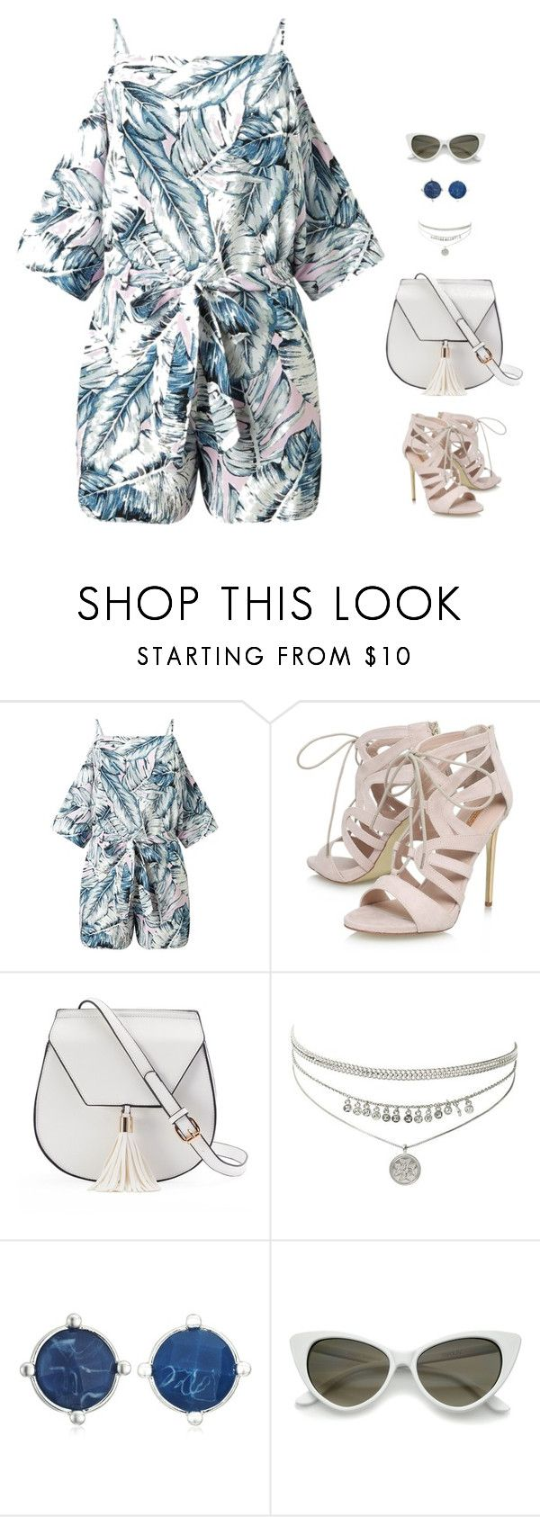 """""""#summer"""" by candynena228 ❤ liked on Polyvore featuring Miss Selfridge, Carvela, Yoki and Napier"""